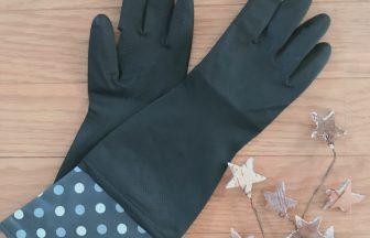 【キャンドゥ】キッチンにあってもおしゃれなゴム手袋
